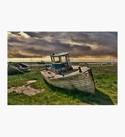 Abandoned Boat at Heswall Photographic Print