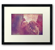 With a Little Love Framed Print