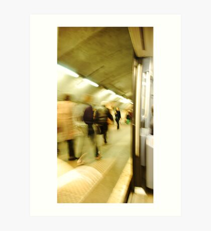Life of the Paris Metro Art Print
