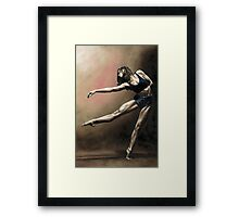 With Strength and Grace Framed Print