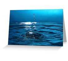 Into the Blue V Greeting Card