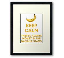 KEEP CALM BANANAS Framed Print