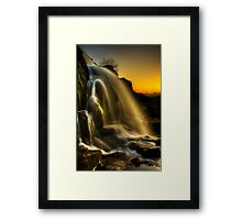 Sunset Spray Framed Print