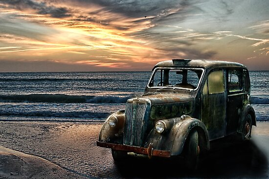 Abandoned Taxi Cab by Tarrby