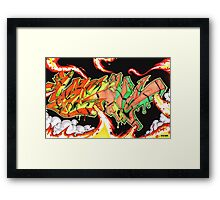 Abstract Graffiti Art Framed Print