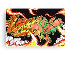 Abstract Graffiti Art Canvas Print
