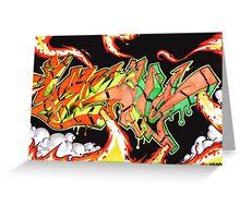 Abstract Graffiti Art Greeting Card