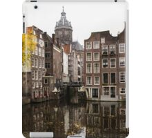 Amsterdam - Reflecting on Autumn Canal Houses iPad Case/Skin
