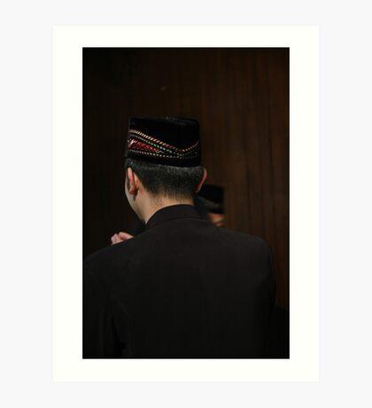 man in muslim costume Art Print