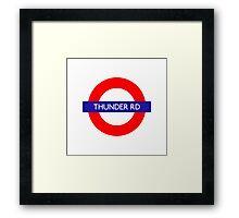 Thunder Road Metro Station Framed Print