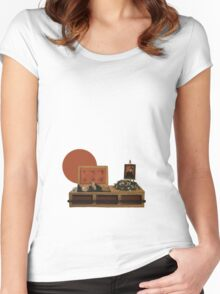 Cool cat funeral Women's Fitted Scoop T-Shirt