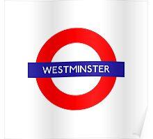 Westminster Metro Station London Underground Poster