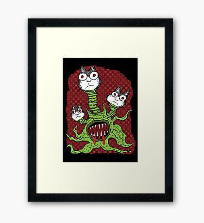 Kitty Monster Framed Print
