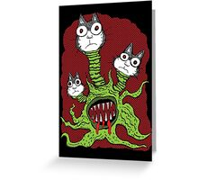 Kitty Monster Greeting Card