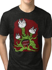 Kitty Monster Tri-blend T-Shirt