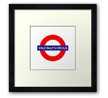 Wild Billys Circus Metro Underground Station Framed Print