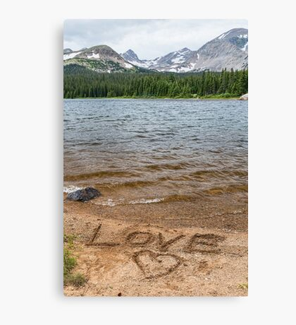 Love the Mountains Canvas Print