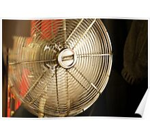 Metal retro fan in the spare bedroom Poster