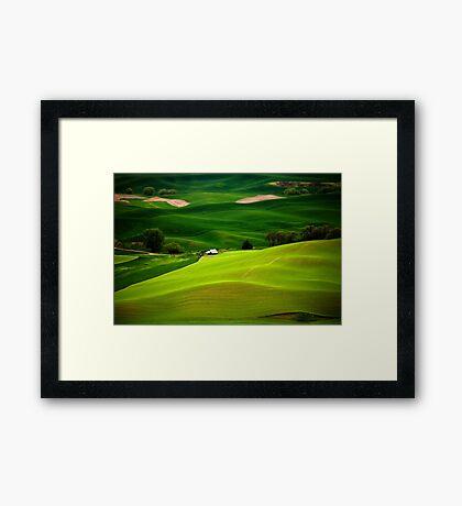 Green Fields Framed Print