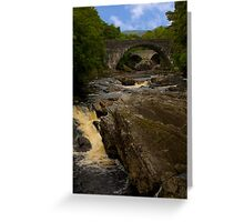 Invermoriston Falls and the Two Bridges Greeting Card