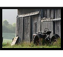 REDREAMING MENNONITE TRACTOR. Photographic Print