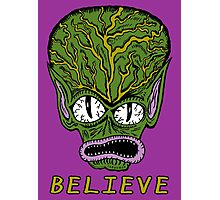 Believe Alien Photographic Print