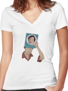 El tigre Chino Women's Fitted V-Neck T-Shirt