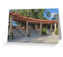 Sun and Shadow at Amici Park, San Diego, CA Greeting Card