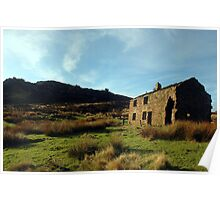 Old cottage at the Roaches Poster