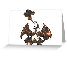 Pokemon Charizard fire fracture Greeting Card
