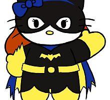 Hello Kitty, Hello Batgirl by Tevokkia