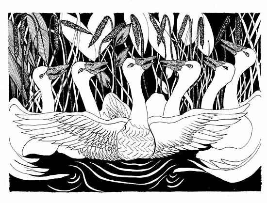 Six Geese by Lenora Brown