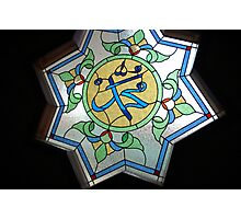 arabic stained glass Photographic Print