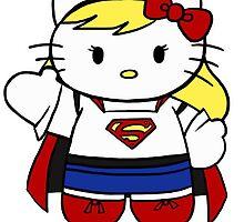 Hello Kitty, Hello Supergirl by Tevokkia