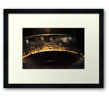 Dirty Gold Framed Print