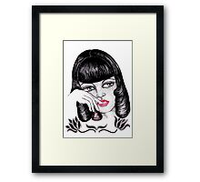 Paper Doll in Thought Framed Print
