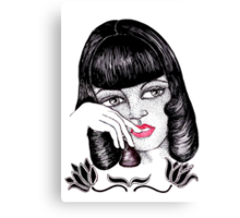 Paper Doll in Thought Canvas Print