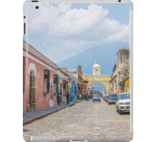 A Street in the Old Town Area of Antigua, Guatemala iPad Case/Skin