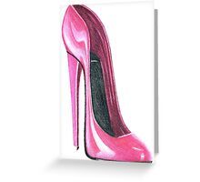 Pink Stiletto Greeting Card