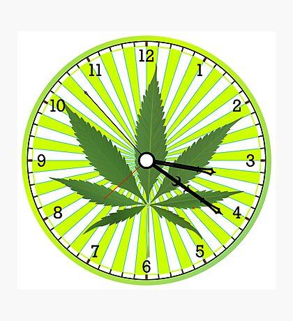 Cannabis clock Photographic Print
