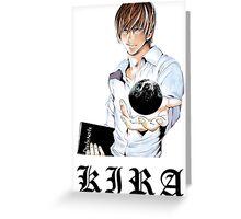 Kira 3 - Death Note Greeting Card