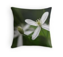 Texas Clematis Throw Pillow
