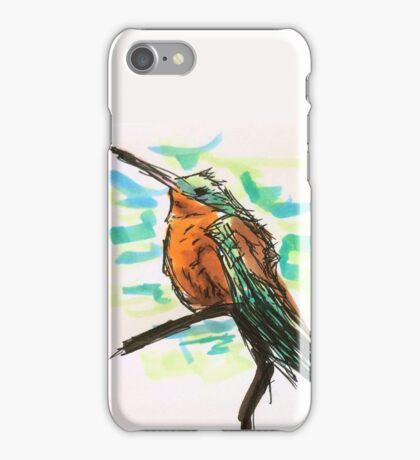 Sitting Hummingbird on a Branch  iPhone Case/Skin