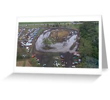 Aerial View of Mud Sprint Track Greeting Card