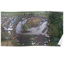 Aerial View of Mud Sprint Track Poster
