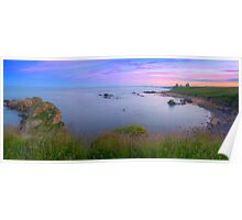 Newark Castle Sunset - St Monans Fife Poster