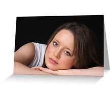 A simple portrait Greeting Card