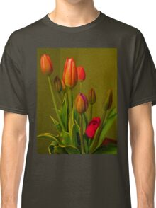 Tulips Against Green Classic T-Shirt