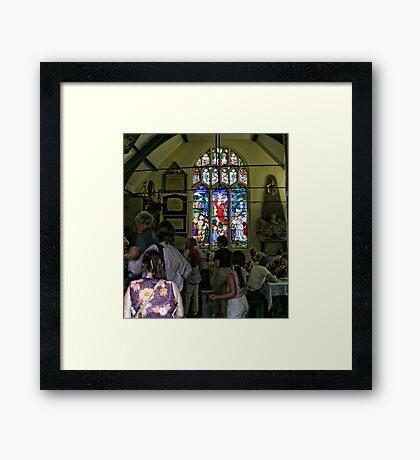 Church window in York Framed Print