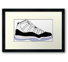 "Air Jordan XI (11) ""Concord"" Framed Print"